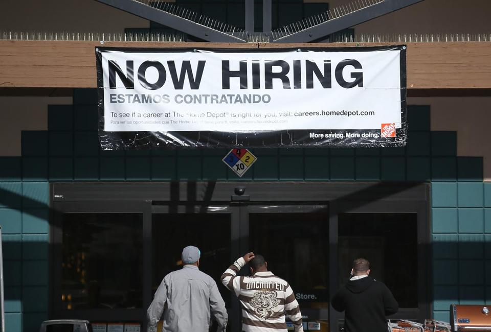 A Home Depot store on in San Rafael, Calif., reflected an apparently brightening jobs picture nationally. Unemployment fell to its lowest point in four years.
