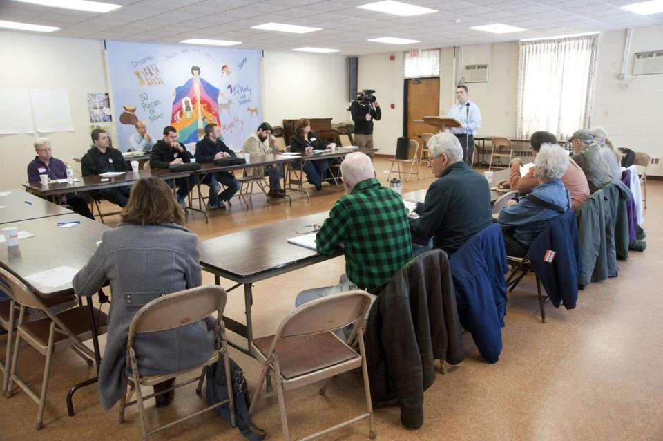 A group of casino opponents met at Wesley United Methodist Church in Framingham to plan for a statewide ballot question to repeal the state's casino law.