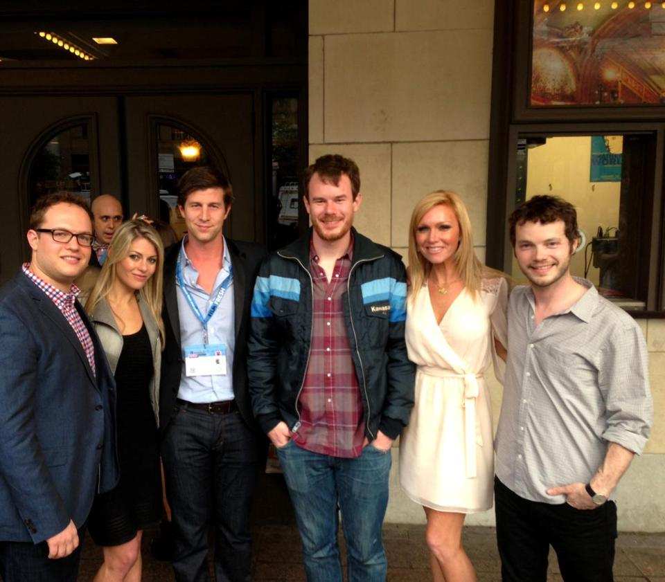 At SXSW in Austin, Texas (from left) Sam Slater, Jessica Klapman, Paul Bernon, Joe Swanberg, Ashley Bernon, and Ben Richardson.