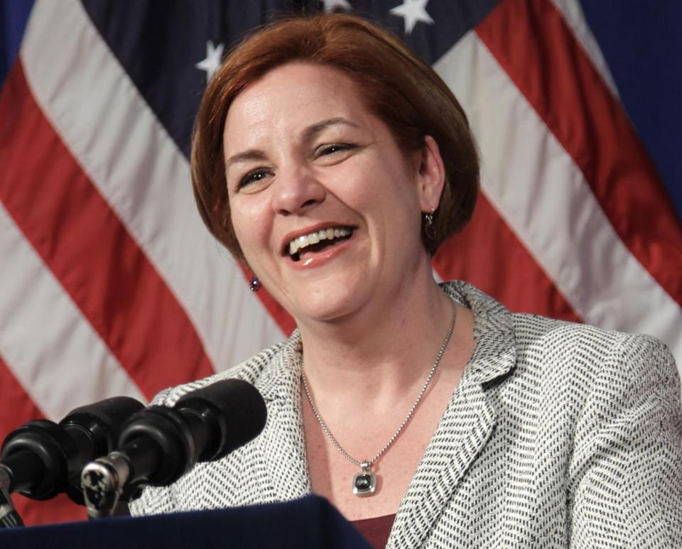 Christine Quinn is seen in a photo from May, 2012. She announced her bid to be New York's next mayor Sunday.