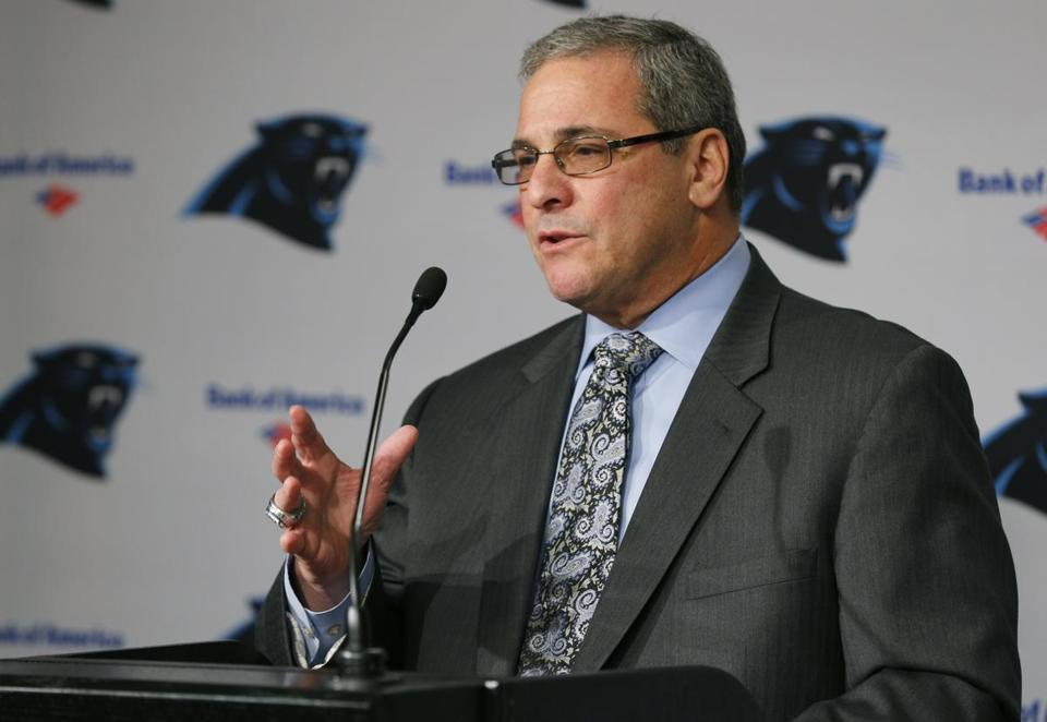 """I also worked in the meat markets loading and unloading trucks down in Southie,"" said Panthers' general manager Dave Gettleman. ""I learned what work was all about."""