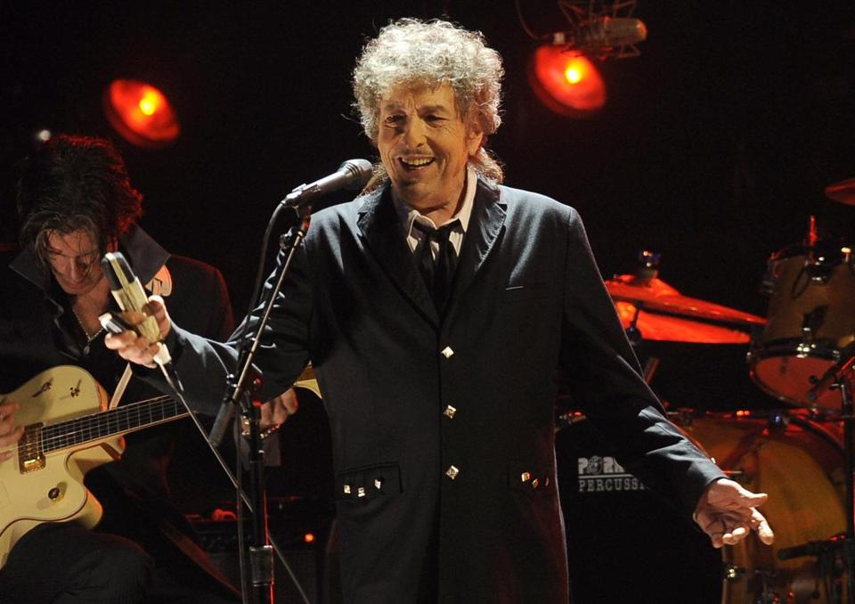 Bob Dylan performs during the Critics' Choice Movie Awards in LA last year.