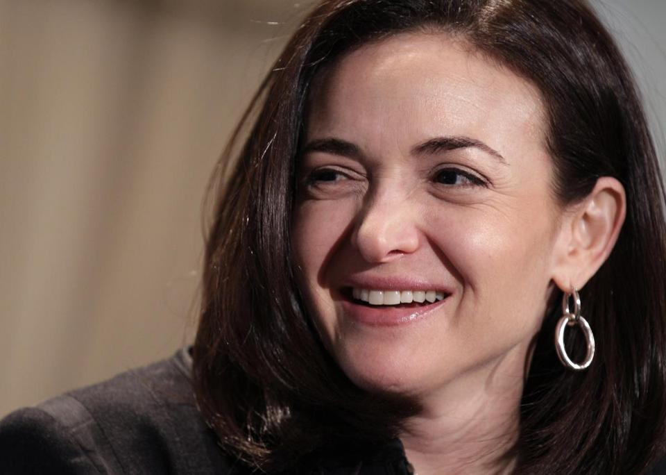 Sheryl Sandberg, Facebook's chief operating officer, speaks at a luncheon for the American Society of News Editors in San Diego in 2011. AP Photo/Gregory Bull.