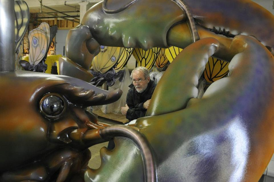 Sculptor Jeff  Briggs has spent the last three years creating the animals on the carousel for the Rose Kennedy Greenway.