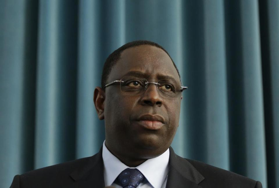 Senegalese President Macky Sall is seen in a March 12 photo in Senegal.
