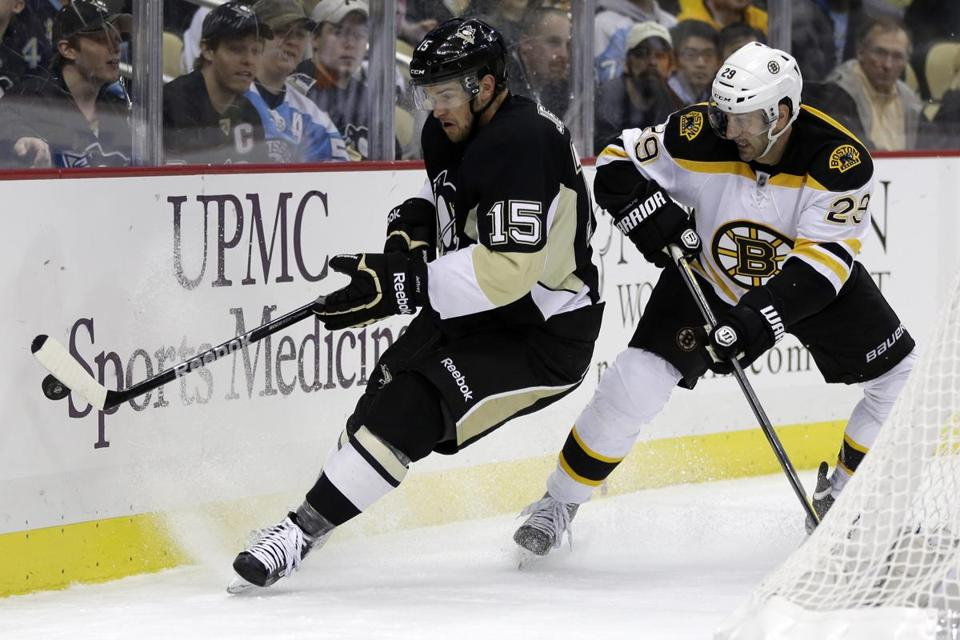 Jay Pandolfo, a healthy scratch Monday, was the No. 3 left wing against the Penguins.