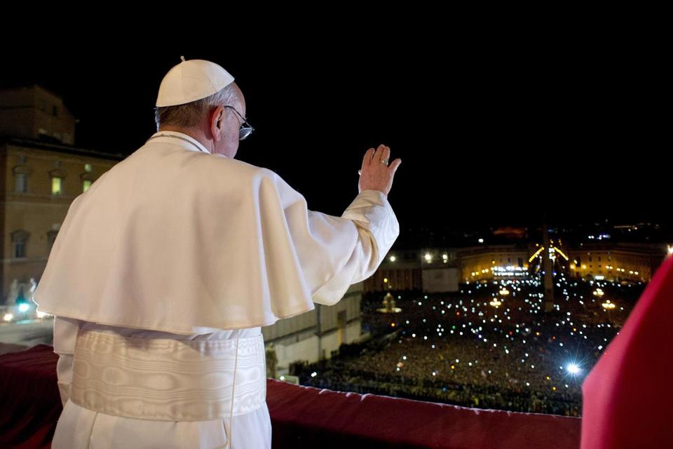 The newly elected Pope Francis appeared before thousands in St. Peter's Square.