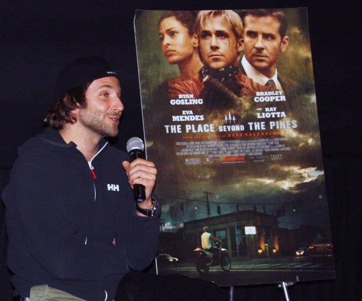 Bradley Cooper answers audience questions at a screening at the AMC Boston Common Tuesday night.