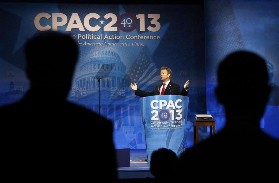 Senator Rand Paul addressed the Conservative Political Action Conference on Wednesday.