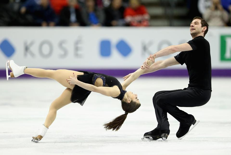 Marissa Castelli and Simon Shnapir of the Skating Club of Boston wound up in 13th place after the short program in pairs.