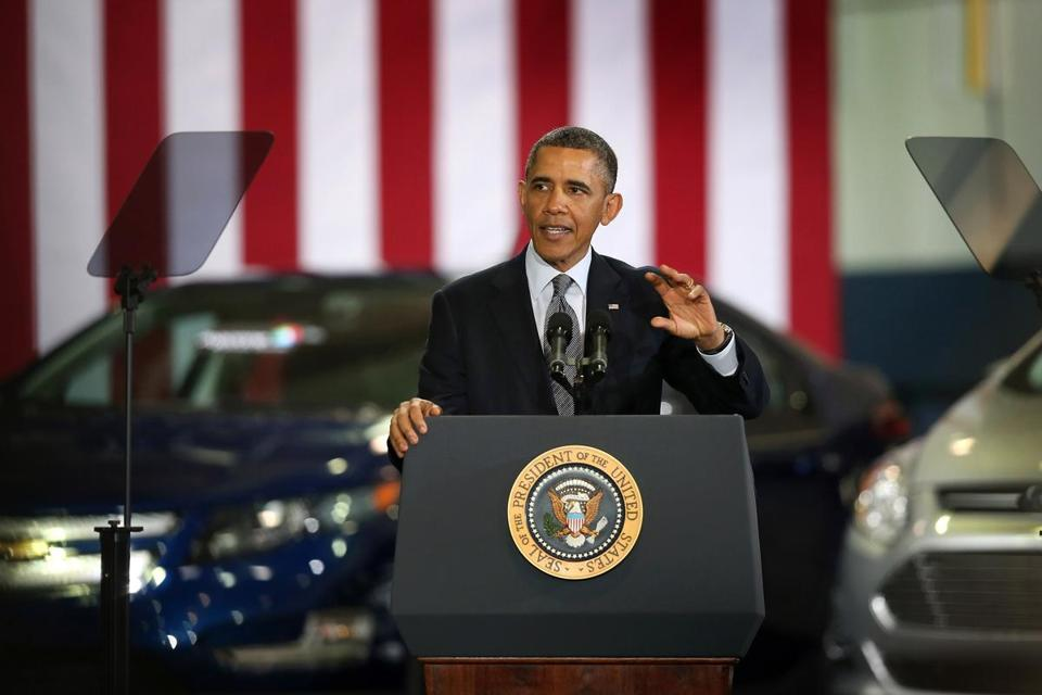 President Obama spoke at Argonne National Laboratory about his plan so use revenue from oil and gas leases.