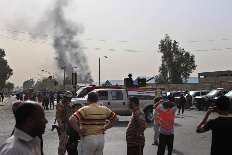 The carefully coordinated attack began shortly after midday on Thursday in Baghdad's Allawi area.
