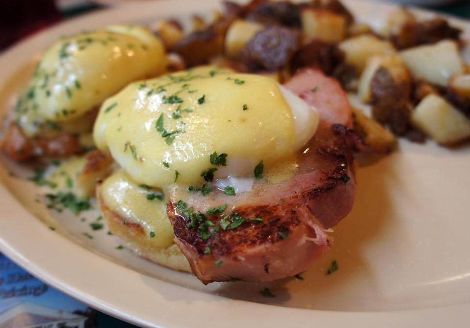 Eggs Benedict at the Owl Diner.