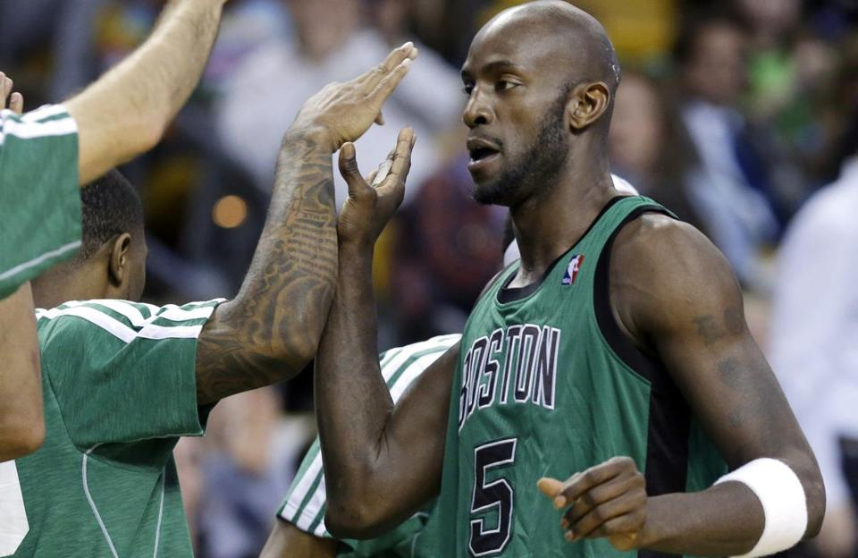 Kevin Garnett is averaging 14.8 points and 7.8 rebounds this season.
