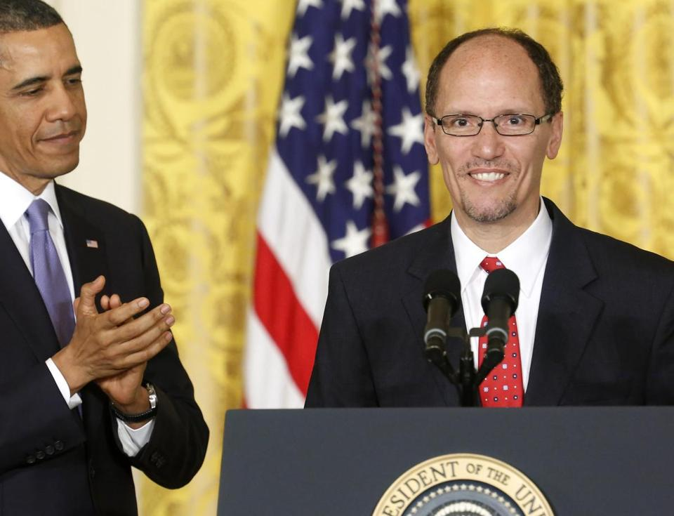 "President Obama on Thomas Perez, Labor Department nominee: ""His story reminds us of this country's promise.''"