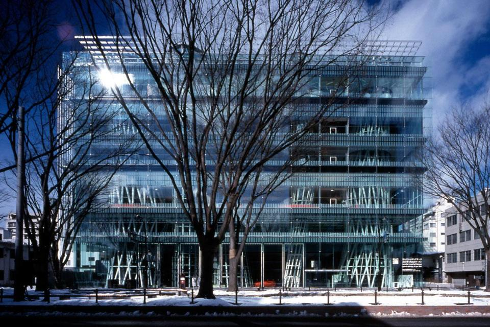 Ito's transparent Sendai Mediatheque library, in Sendai, Japan, survived the catastrophic earthquake and tsunami of 2011.