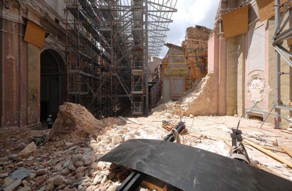 An earthquake centered in L'Aquila in central Italy killed more than 200 people in April, 2009.