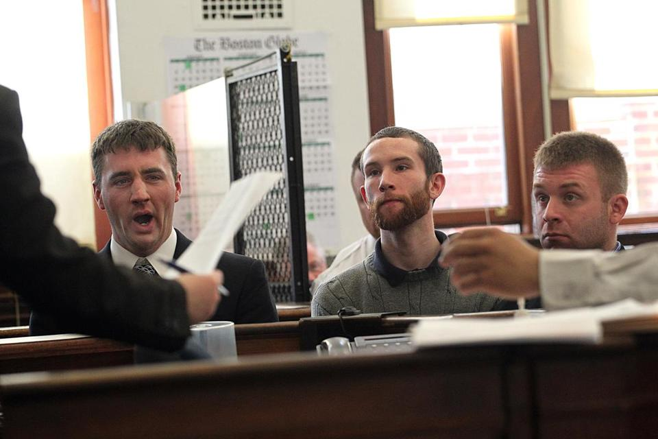 Gavin Castagna, Brian Fletch, and Christopher Castagna were in court Monday facing charges filed against them in connection with a St. Patrick's Day assault in South Boston.