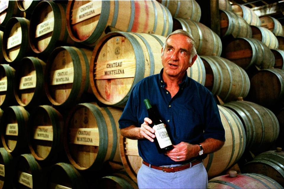 Mr. Barrett with his world-renowned 1973 chardonnay.