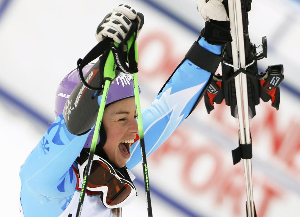 Tina Maze (above) rebounded from Saturday's loss to American Mikaela Shiffrin with a victorious finish to her dominating slalom season.