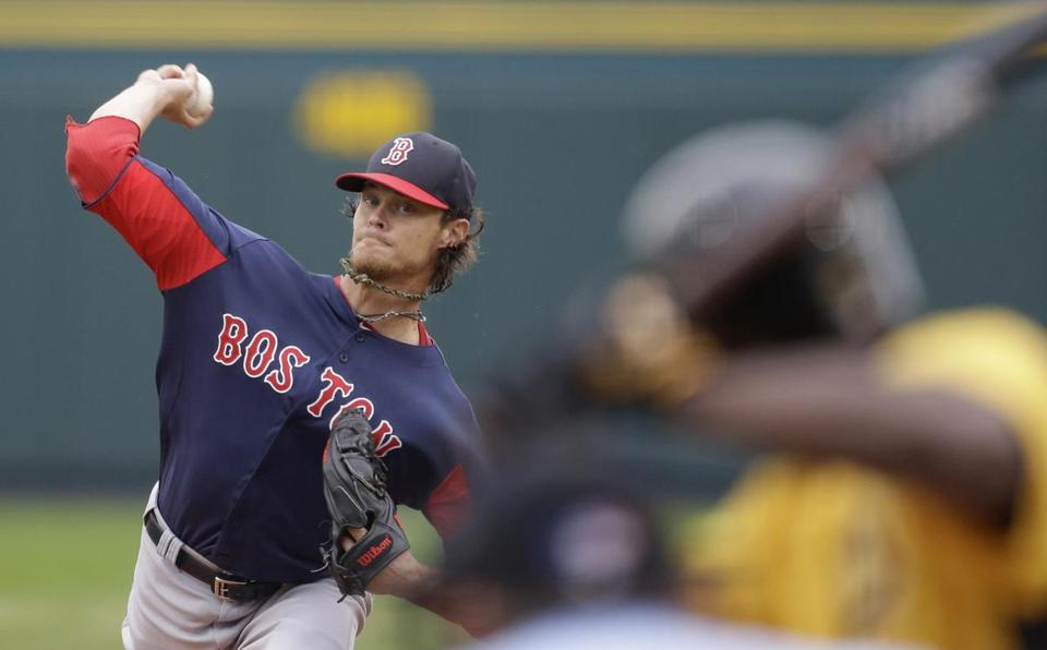 Clay Buchholz gave up one run on one hit through five innings against the Pirates.