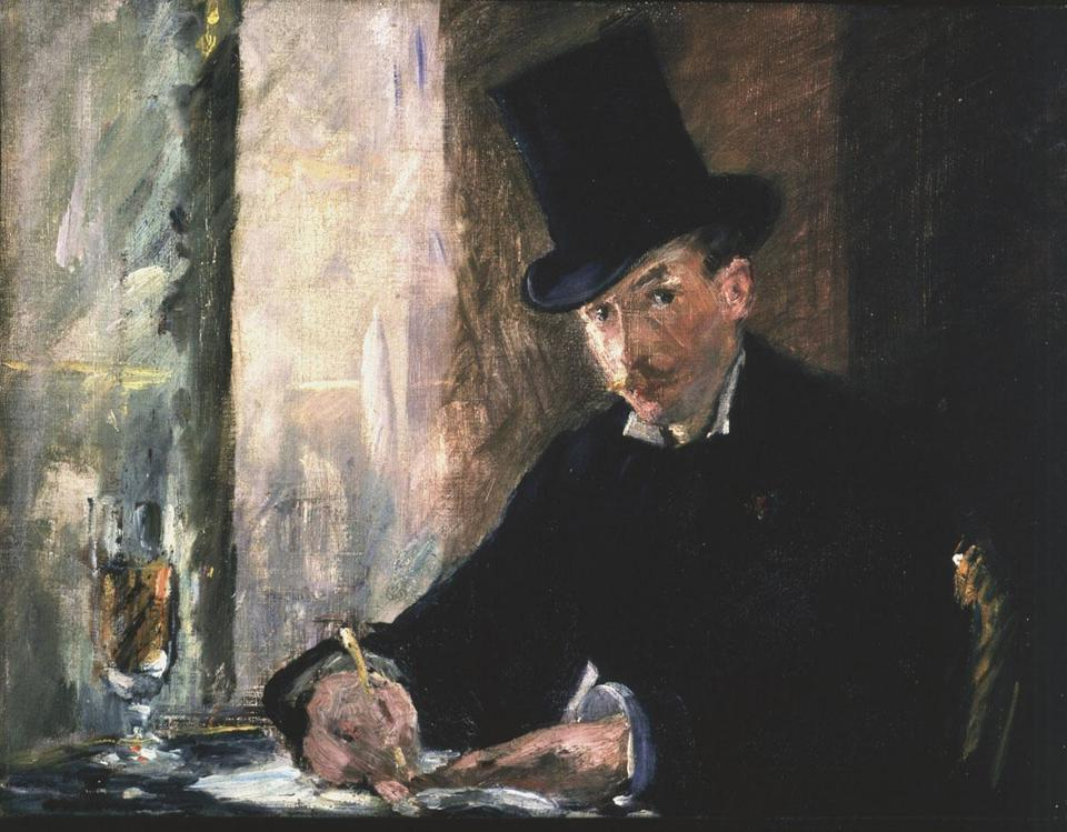 "Edouard Manet's ""Chez Tortoni,"" stolen from the Gardner in 1990, is a classic example of the French master's work."