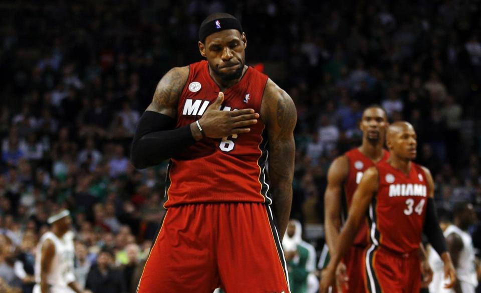 LeBron James led the Heat past the Celtics on Monday.