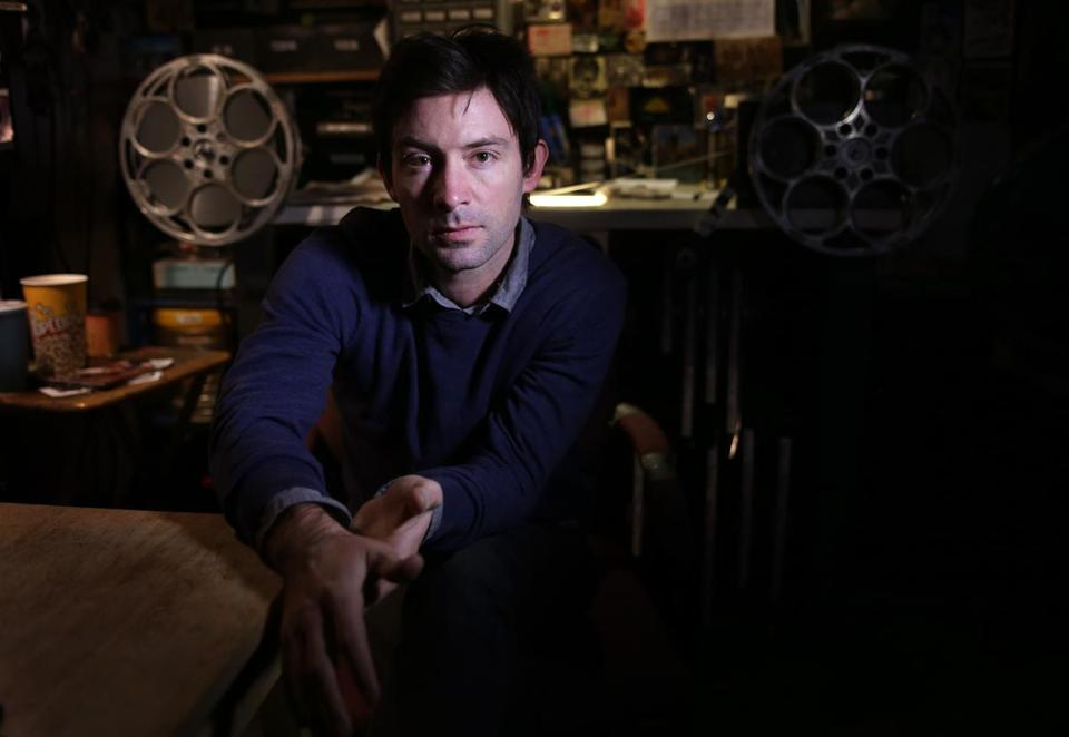 "Shane Carruth (pictured at the Brattle Theatre) wrote, directed, and stars in ""Upstream Color."""