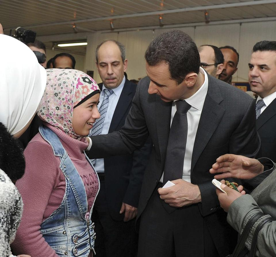 The regime of President Bashar Assad, who made a rare public appearance on Wednesday in Damascus, and the Syrian opposition escalated mutual accusations.