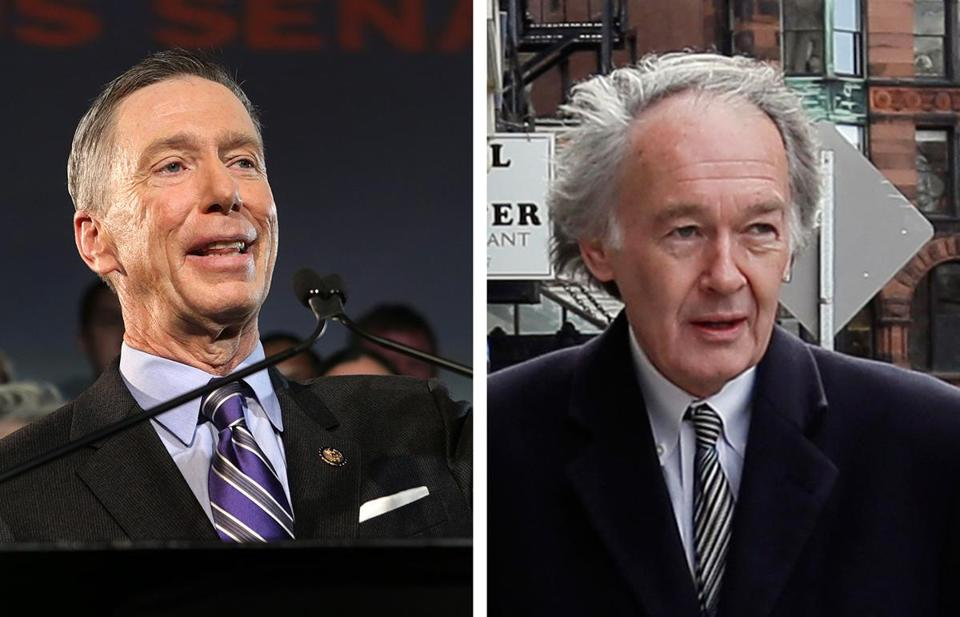 The AFL-CIO chose not to endorse either Representative Stephen F. Lynch (left) or Representative Edward J. Markey in the US Senate Democratic primary.