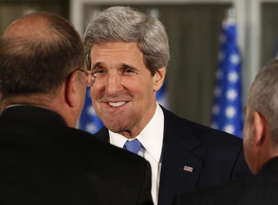 Secretary of State John Kerry met with Israeli officials before a news conference held by Prime Minister Benjamin Netanyahu and President Obama in Jerusalem.