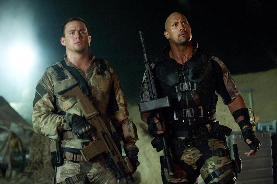 "Channing Tatum (left) and Dwayne Johnson in ""G.I. Joe: Retaliation."""