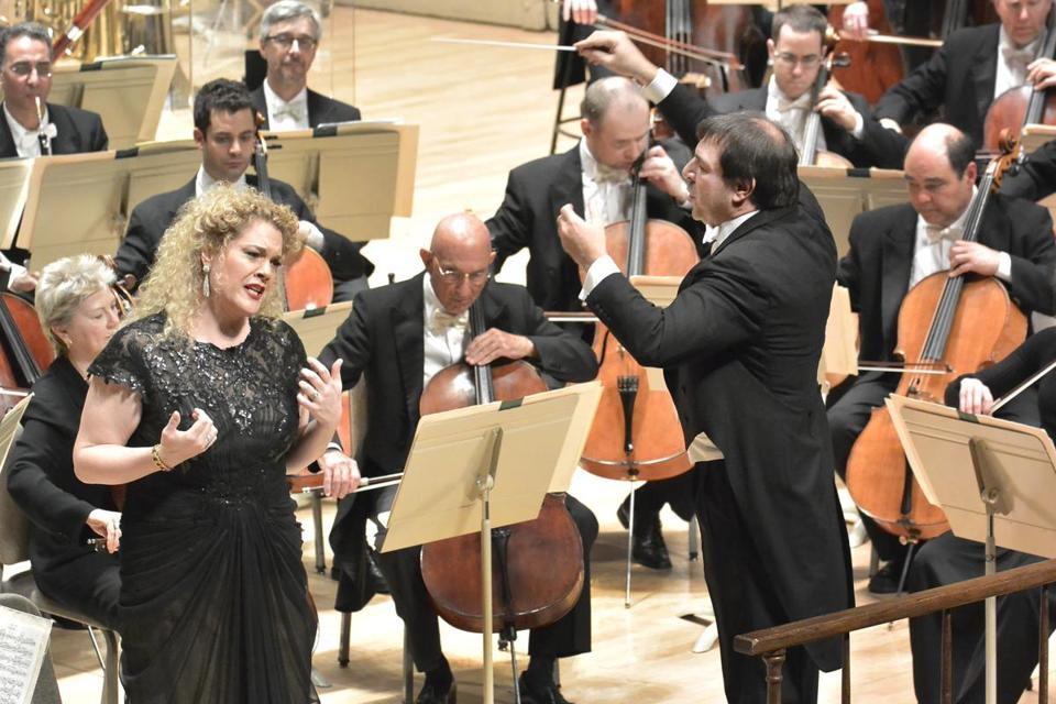 Mezzo-soprano Michelle DeYoung joined conductor Daniele Gatti and the Boston Symphony Orchestra on Thursday.