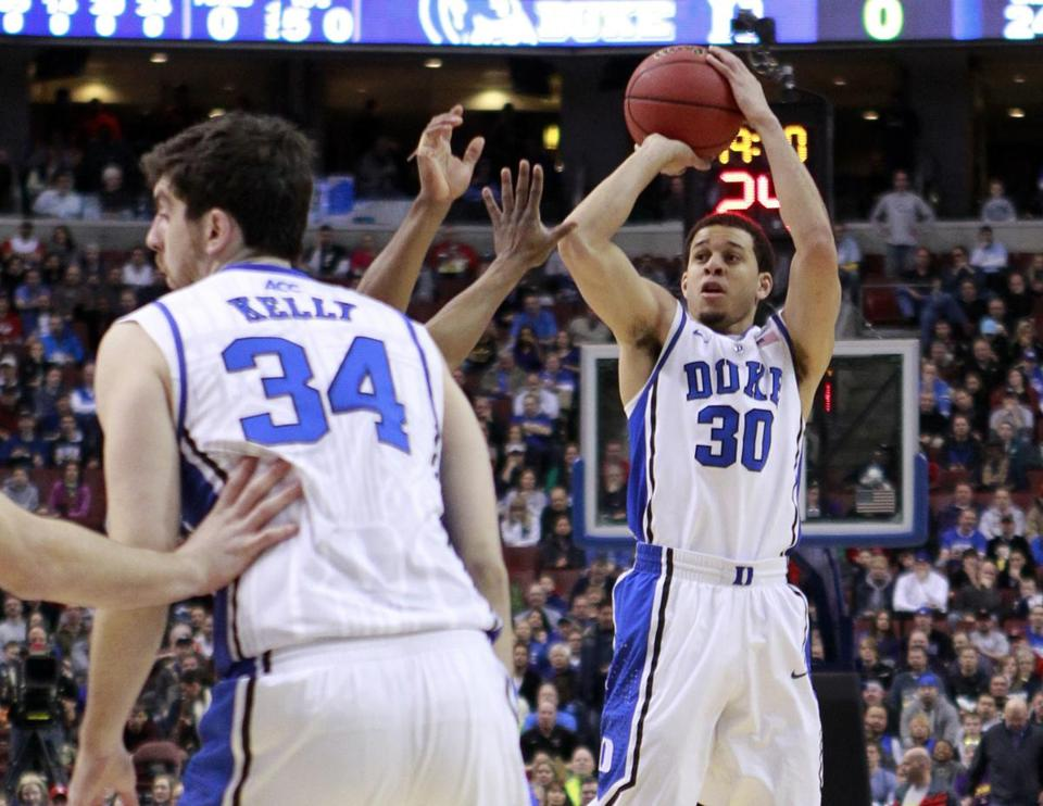 Duke shot nearly 59 percent from the field thanks to Seth Curry (30), who finished 10 of 14 and made both 3-point tries.