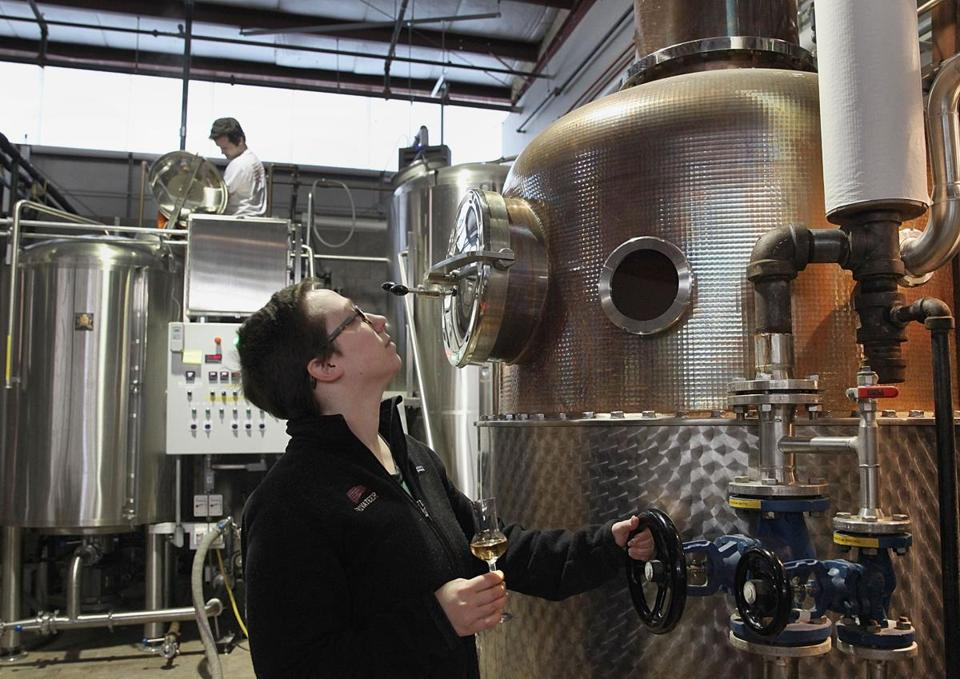 Distiller Maggie Campbell at Privateer International's Ipswich facility.