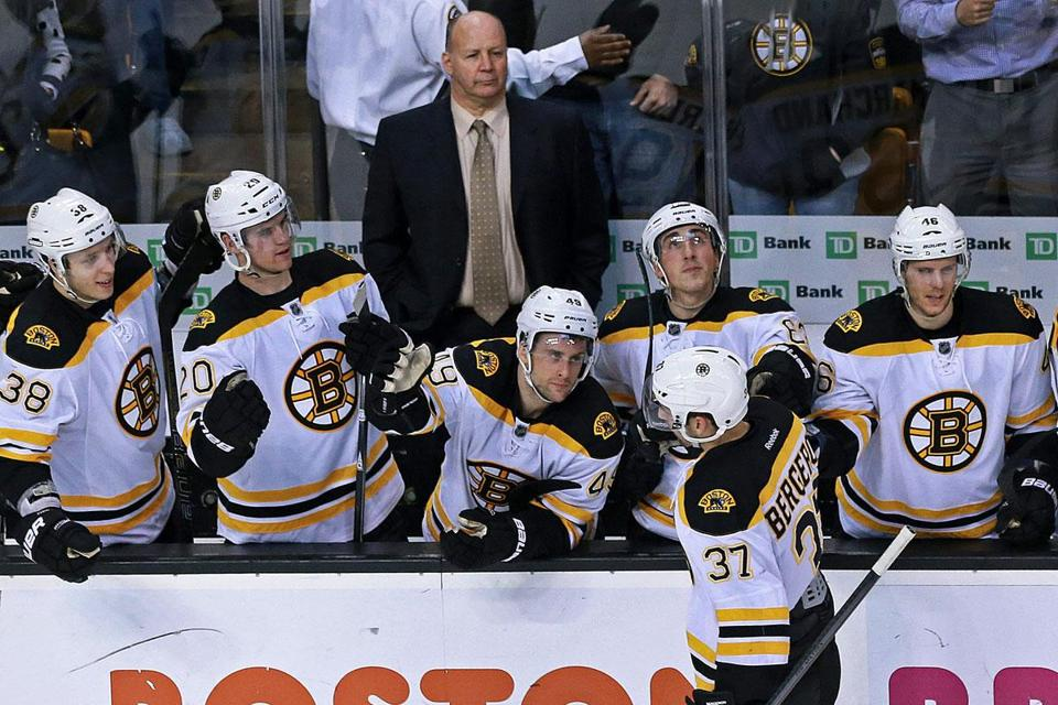 Bruins coach Claude Julien switched up the lines before Monday night's home game against the Maple Leafs.