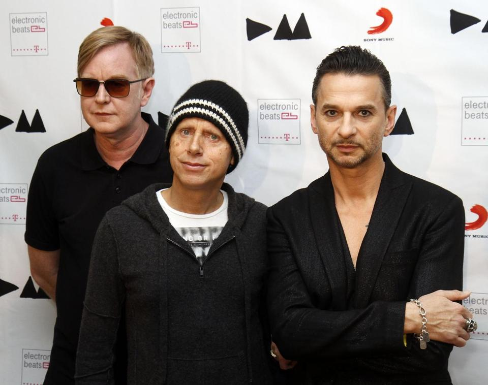 "Martin Gore (center) and Depeche Mode mates Andrew Fletcher (left) and David Gahan have released their 13th album, ""Delta Machine."""