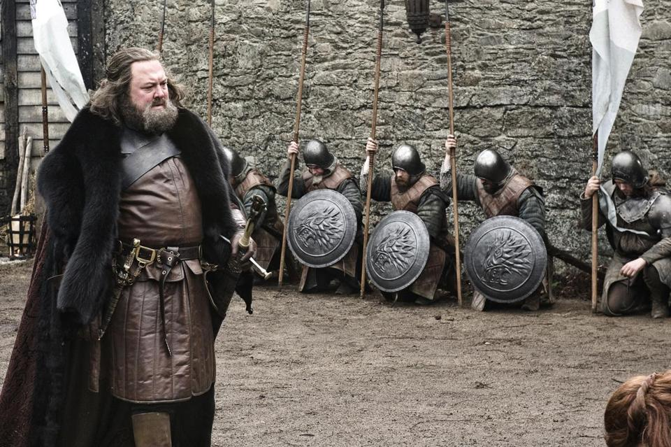 "Mark Addy stars as King Robert Baratheon in HBO's ""Game of Thrones."""