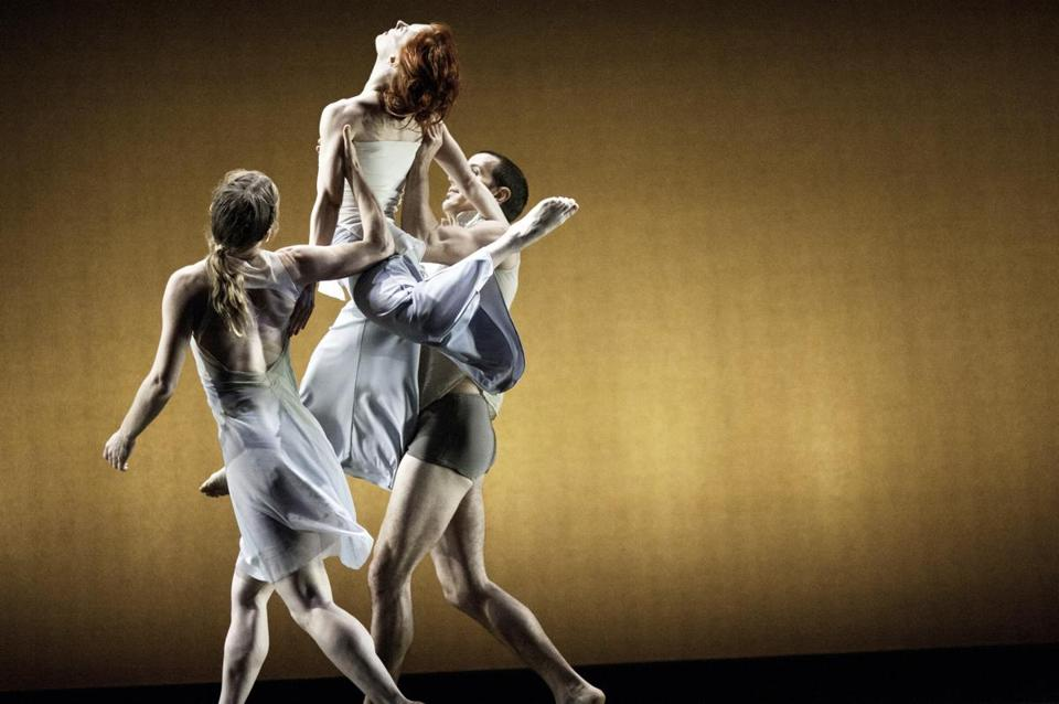 Kate Weare, Leslie Kraus, and Douglas Gillespie of the Kate Weare Company, which will make its Boston debut at the ICA.