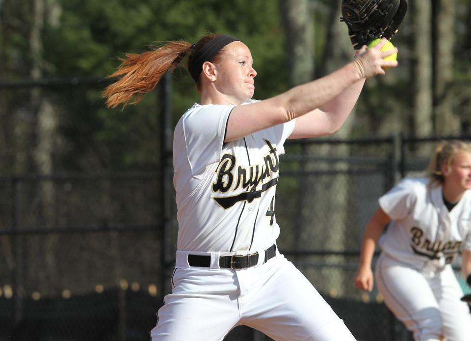 Attention to her craft and dedication to improve have turned Brittany Hart into Bryant University's most reliable softball pitcher.