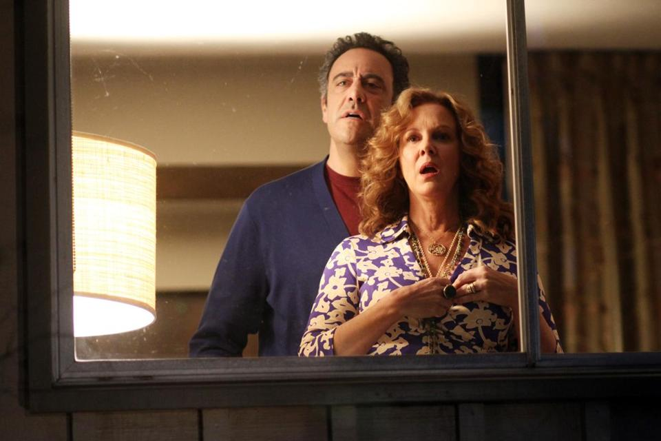 "Sarah Chalke (top), Brad Garrett, and Elizabeth Perkins in ""How to Live With Your Parents (For the Rest of Your Life)."""