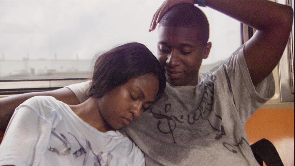 "Tashiana Washington and Ty Hickson in a scene from ""Gimme the Loot."""