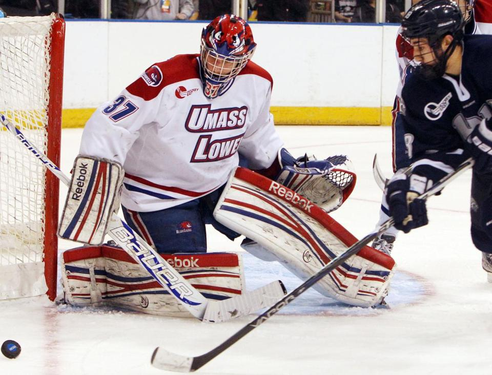 Connor Hellebuyck turned aside everything that came his way to lead UMass-Lowell to the Frozen Four.