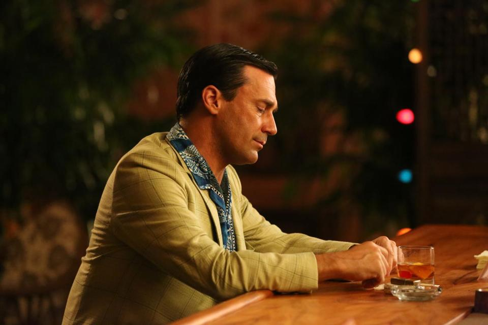 "Jon Hamm stars as the morally and emotionally stagnant Don Draper in ""Mad Men."""
