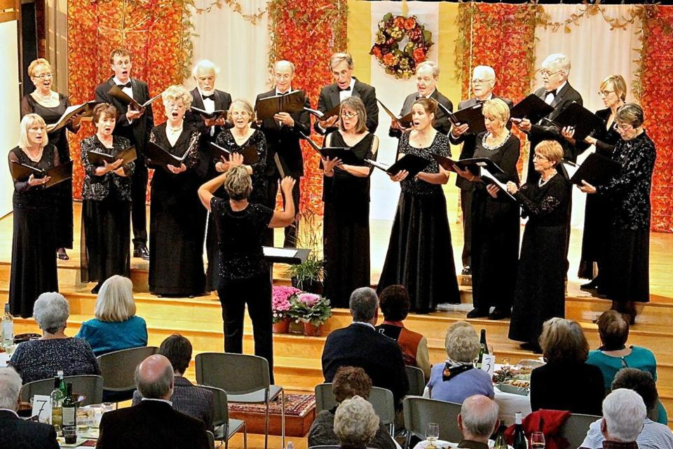 The Hingham-based Unicorn Singers performing in Scituate last fall.
