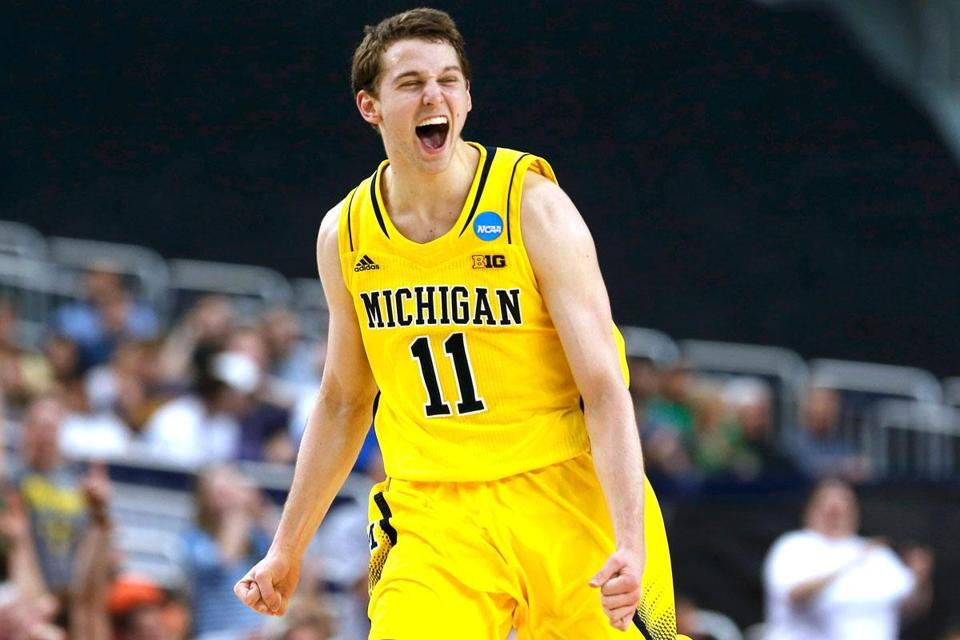 Nik Stauskas, one of three freshman starters, hit six treys and had 22 points.
