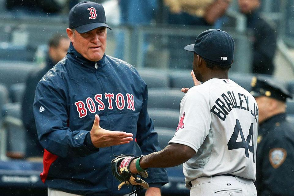 John Farrell had to hand it to rookie Jackie Bradley for his contributions to Monday's game at the plate, on the bases, and on defense.