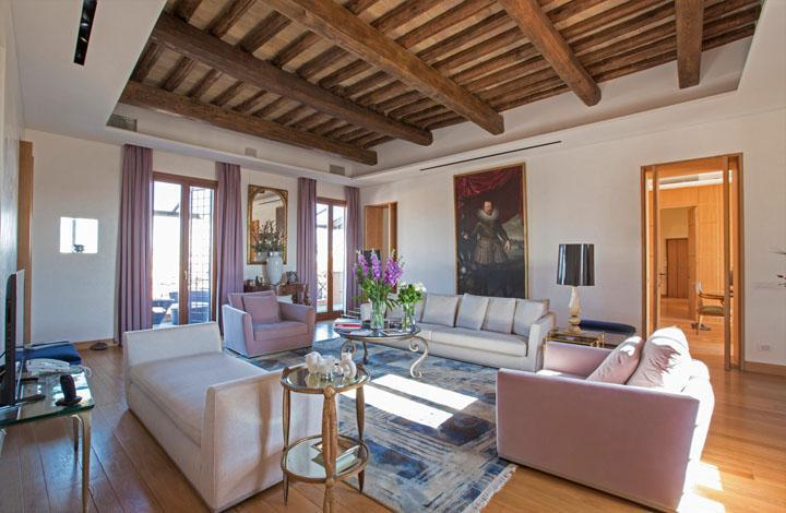 Homebase Abroad in Italy offers this rental: Via dei Prefetti, a four-bedroom villa in Rome's historic center.