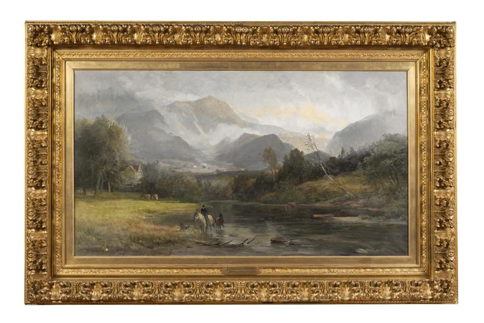 "Samuel L. Gerry's ""Franconia Notch"" is one of the paintings on exhibit at the museum."