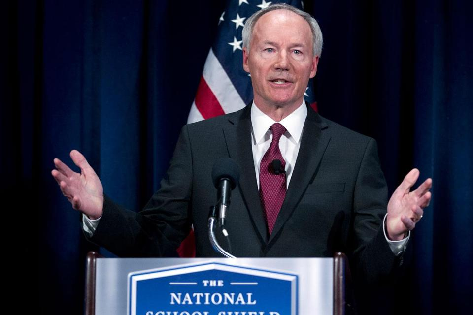 Asa Hutchinson, a former Republican congressman, led an NRA task force on school shootings.